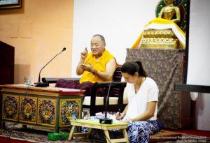 "Khenpo Chödrak Thenpel Rinpoche lecture ""The importance of Buddhist studies""."