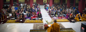 On 25/12/2017 Karmapa International Buddhist Institution began with Public Meditation Course