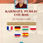 Registration Close for the Karmapa Public Course, 2020