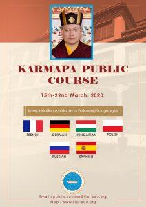 Registration Close for the Karmapa Public Course, 2020